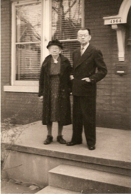 Louisa Schrepel Nevels and her son Frank Downer